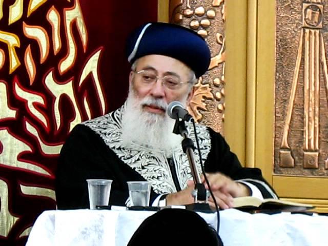 הראשון לציון הרב שלמה עמאר בהספד על רבי אלעזר אבוחצירה