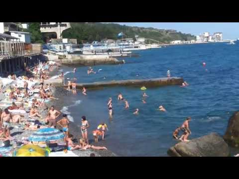 Ялта - Массандровский пляж летом