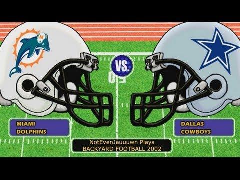 dallas cowboys vs miami dolphins backyard football 2002 game 7