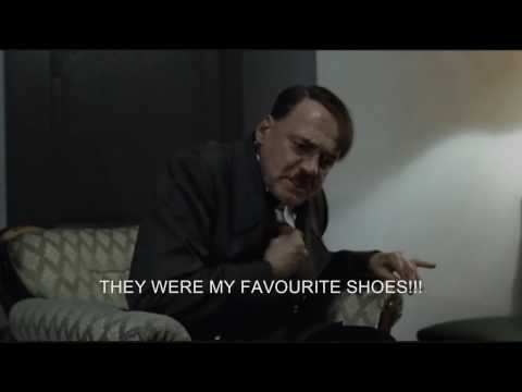 Hitler's shoes are stolen and are thrown at George W Bush