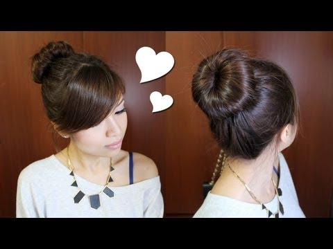 Everyday Perfect Bun Updo Hairstyle for Medium Long Hair Tutorial