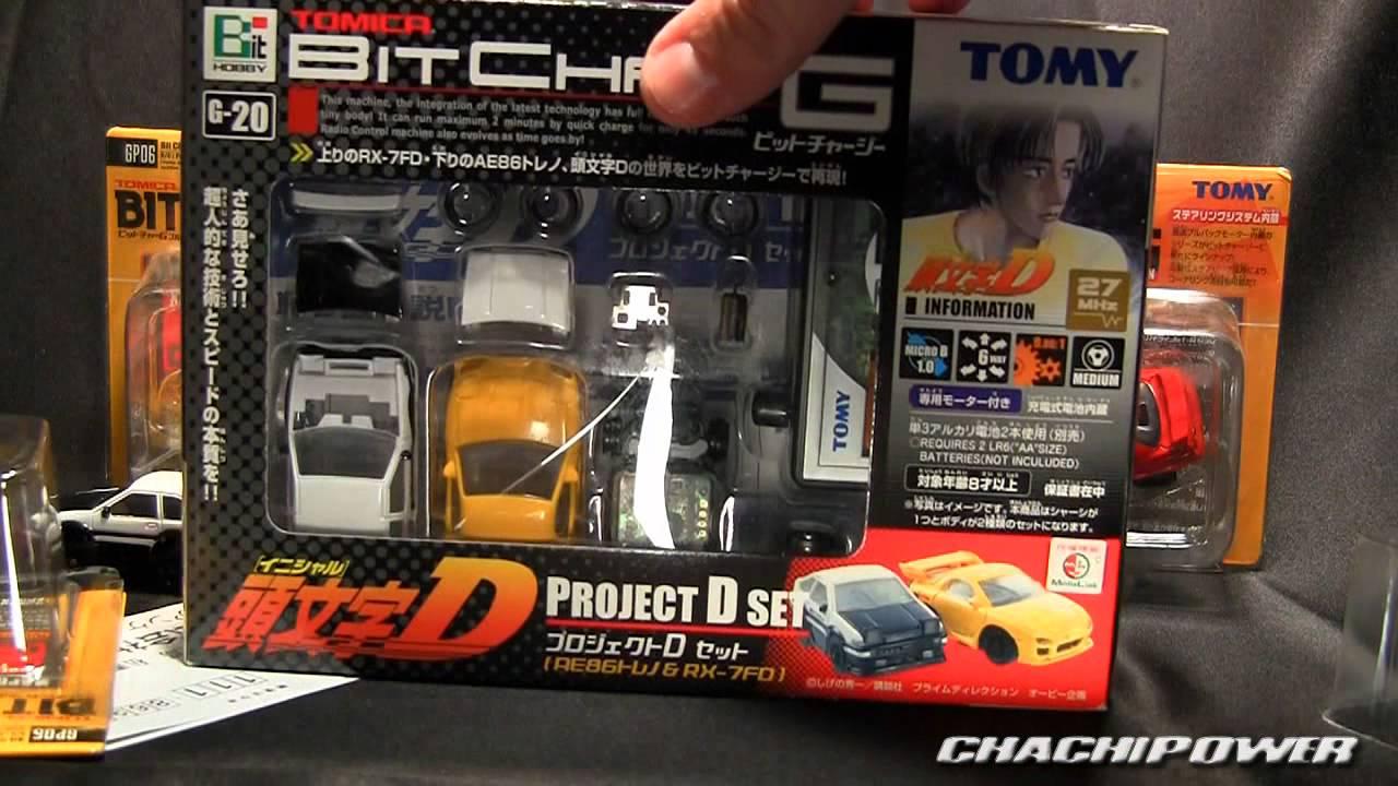 Tomy micro RC Bit Char-G Pullbacks AE86 R32 Skyline Honda ...