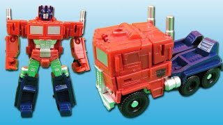 Optimus Prime Toy Truck Transformation Video REVIEW Toys for Boys Optimus Prime Autobots Transform