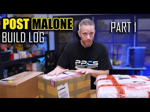 Post Malone Build Log Part 1 - This is the craziest build I've done yet