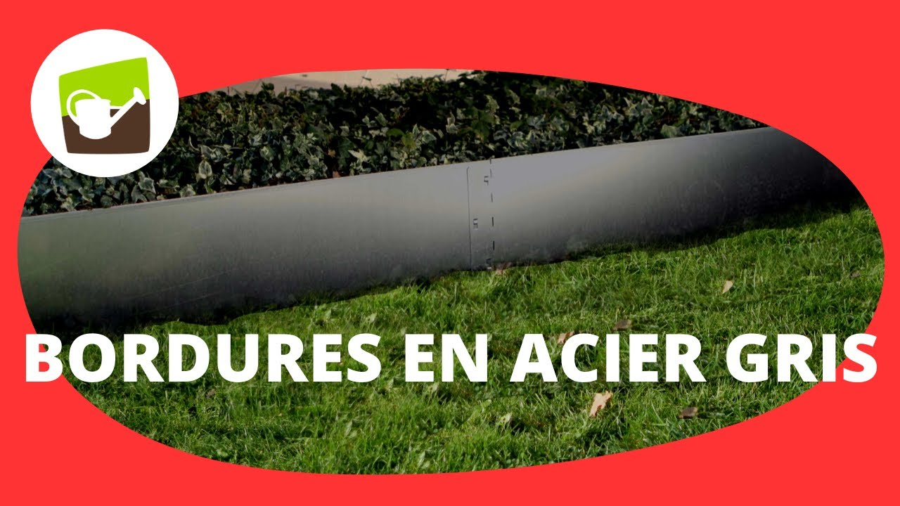 Bordure de jardin en acier galvanise flexible 1 17m r f for Bordure jardin metallique