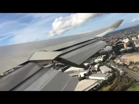EXCITING DAY! Qantas | 747-400 | Takeoff | Sydney - Santiago HD