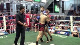 Ibrahim Gigdirir (Tiger Muay Thai) fighting at Bangla Boxing Stadium 11/1/2014