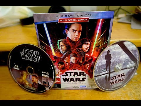 Star Wars The Last Jedi Blu-Ray Unboxing and Review!!!
