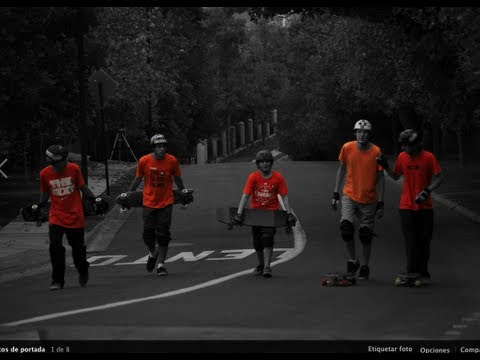 Longboard Chile: //Black/White/ORANGE\\ The Slide Films