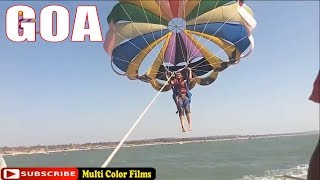 Parasailing in Goa at Calangute Beach 🐋Best Water Sports In Goa 🐬Top 5 Water sports in Goa at baga