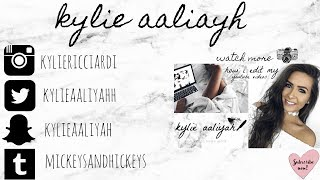 HOW TO MAKE A YOUTUBE END CARD (OUTRO) TUTORIAL | KYLIE AALIYAH
