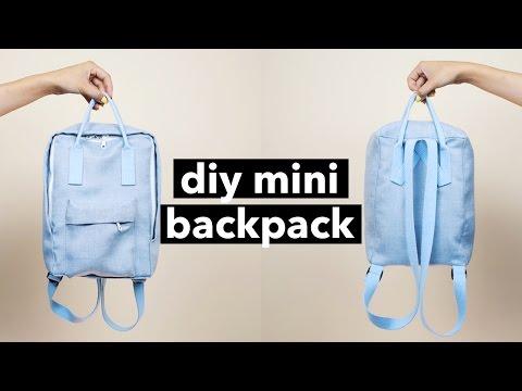 DIY Mini Backpack From Scratch! (Fjällräven Kånken style)   WITHWENDY