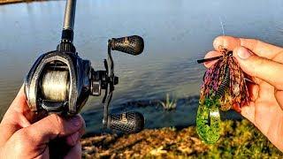 Bank Fishing Ponds for the BIGGEST Bass!!! (1v1v1 Tournament)