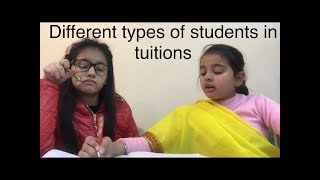 Diffrent types of students in tuitions 📚📚📚
