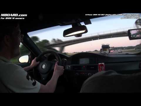BMW 1 M Coupé (US spec) playing with BMW M3 G-Power SKII