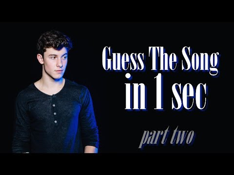 Guess The Song In 1 Sec! - Shawn Mendes Edition [Part 2]