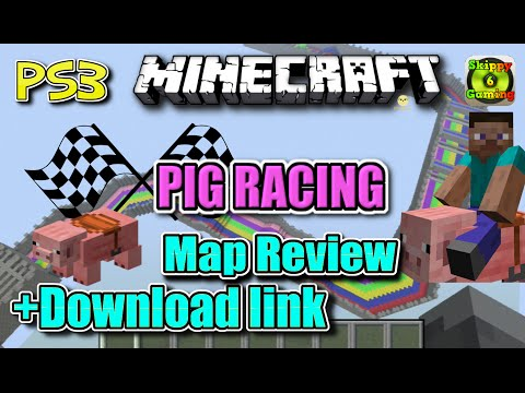 MINECRAFT - PS3 - PIG RACING MAP REVIEW + DOWNLOAD LINK ( PS4 )  -