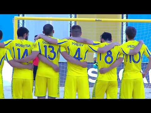 Пляжний футбол. Євроліга-2018. Україна 2:2 (4-3 пен.) Італія, репортаж з Баку