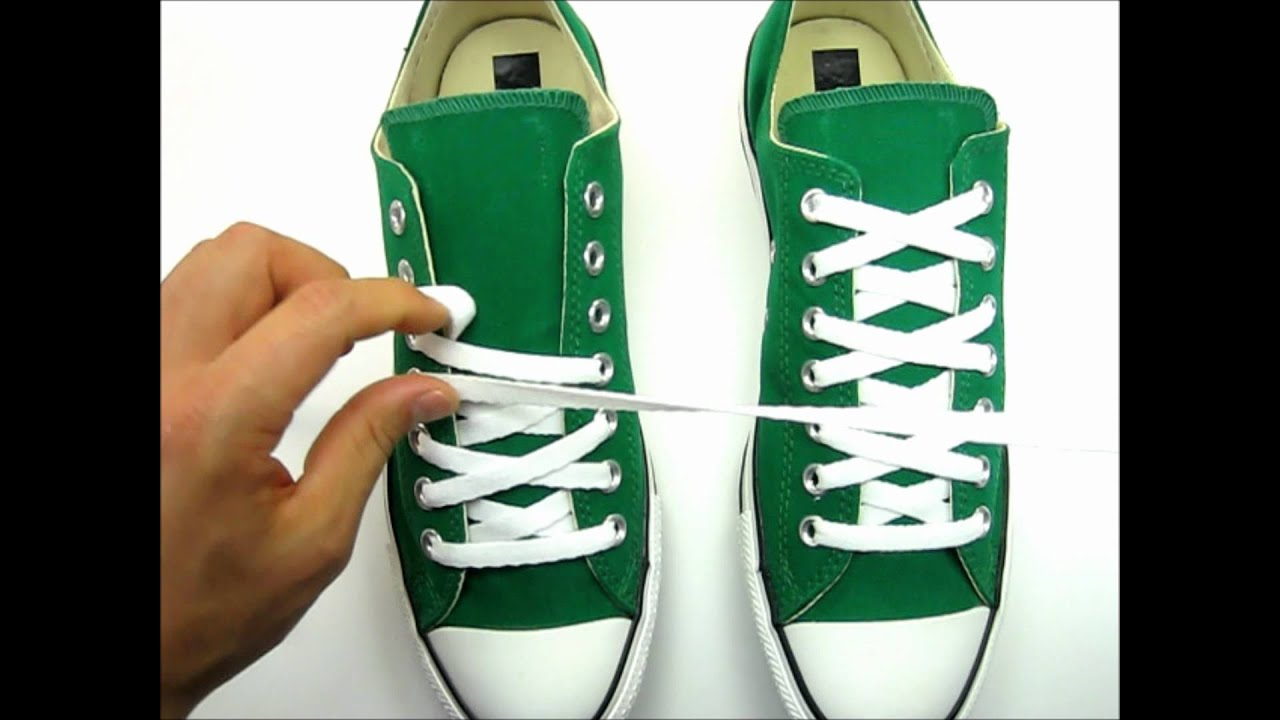how to tie vans so the laces don t show