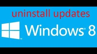 how to uninstall windows 8.1 update