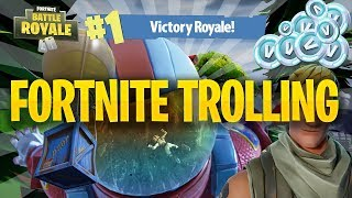 Fortnite Trolling Turned Into His First WIN!