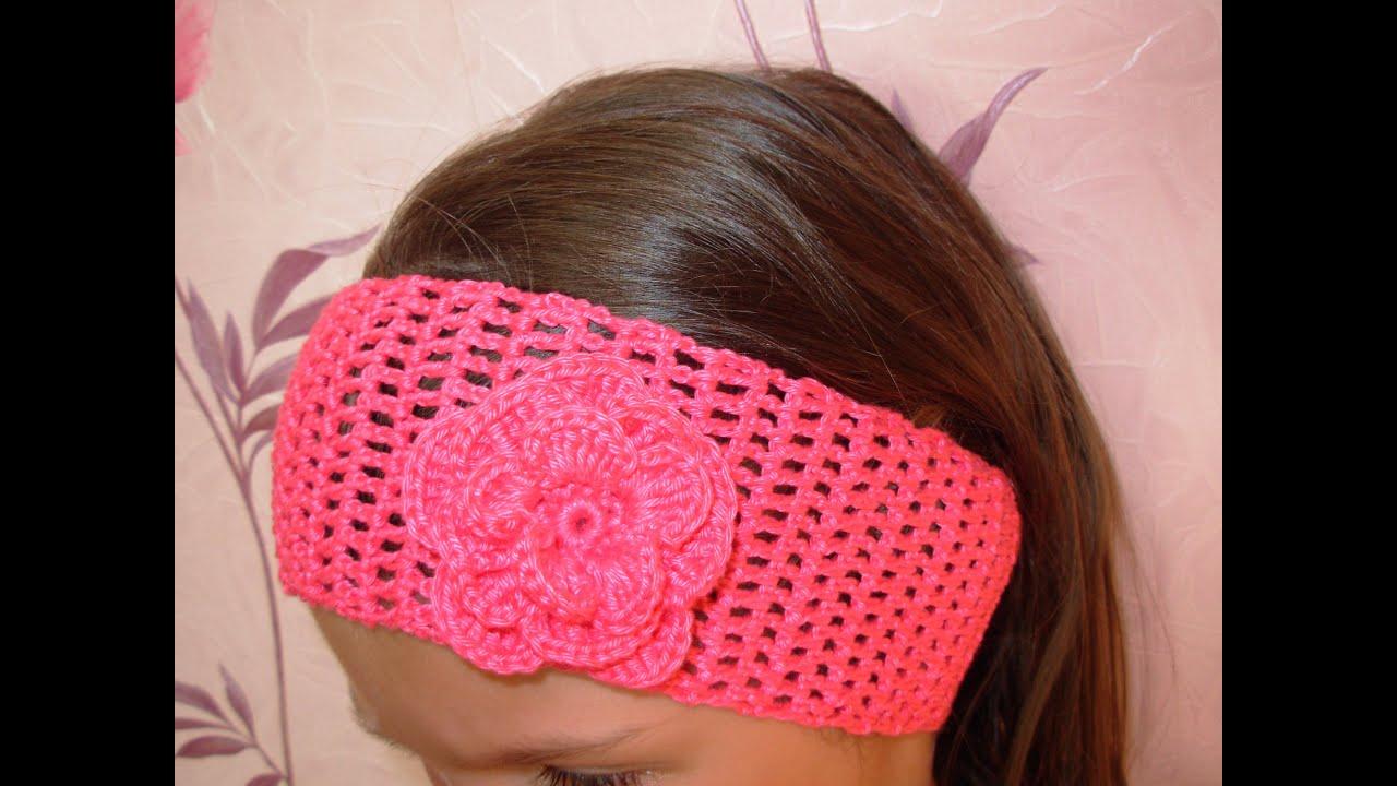 Вязаная повязка на голову для девочки (36 фото детские) 38