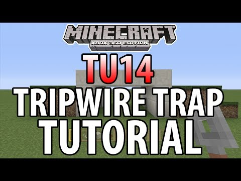 Minecraft (Xbox 360/PS3) - TU14 - EASY TRIPWIRE HOOK TRAP - TUTORIAL