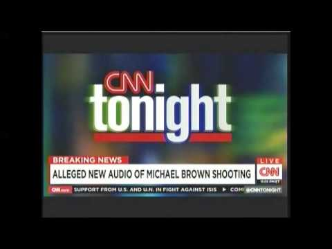Alleged audio of Mike Brown shooting on CNN Aug 25 2014