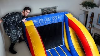 The dumbest thing I've EVER done... **INDOOR VELCRO WALL** | FaZe Rug