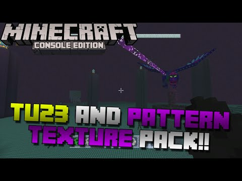 Minecraft Xbox Playstation: TU23 Out Now + Breakdown Pattern Texture Pack Quick Review