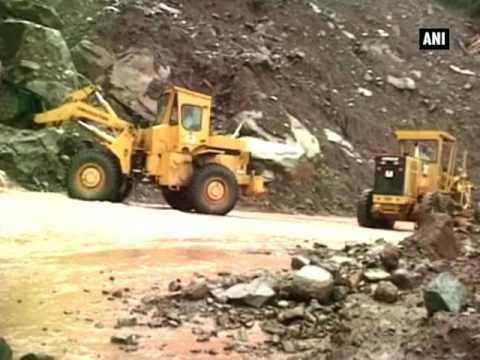 Jammu-Srinagar highway blocked due to landslide  - ANI News
