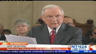 Jeff Sessions comparece frente al Senado en audiencia de confirmación gabinete de Trump