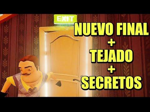 Llegando al tejado, FINAL NUEVO, puzzles y secretos - HELLO NEIGHBOR | Gameplay Español