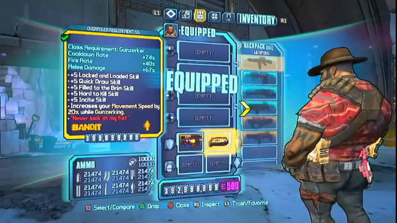 Borderlands 2 Overpower Level 55 Mod PS3 YouTube