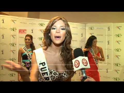 Miss Universe 2009 Bahamas - Alex Medela entrevista a Miss Panamá Diana Broce