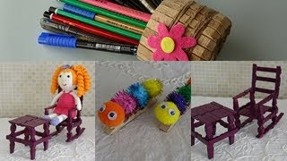 Mandallarla, 4 Basit KENDİN YAP - DIY With Clothes-Pin