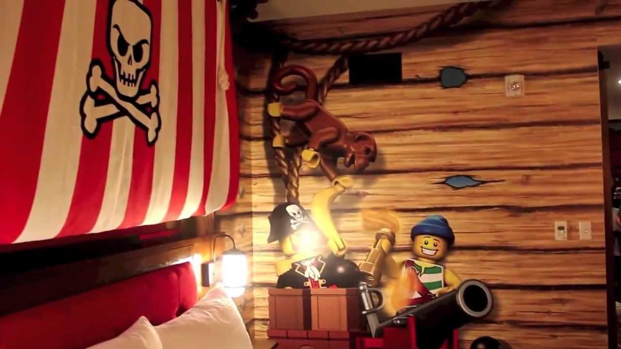 Legoland Hotel Pirate Room Tour At Legoland California