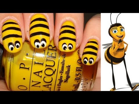 Bee Nail Art Tutorial