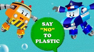 Baby Car with Super5 Cars against Plastic use and its Effects on Ocean | Kids Cartoon