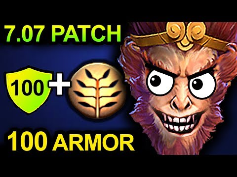 UNLIMITED ARMOR MONKEY KING - DOTA 2 PATCH 7.07 NEW META PRO GAMEPLAY