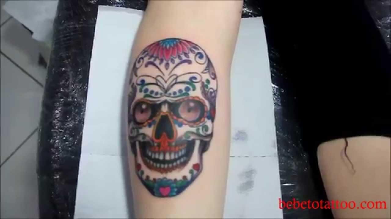 Bebeto Tattoo Studio - Tatuagem de caveira mexicana