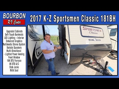 2017 KZ Sportsmen Classic 181BH Tour   Bourbon RV Center