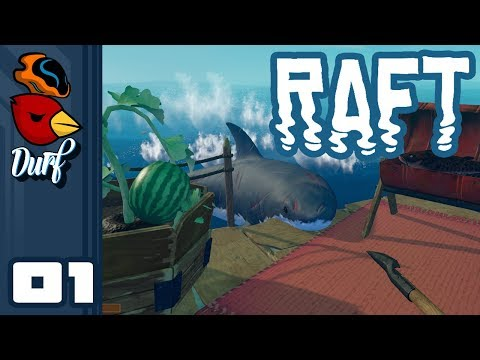 Let's Play Raft [Multiplayer] - PC Gameplay Part 1 - Fishin For Trash!