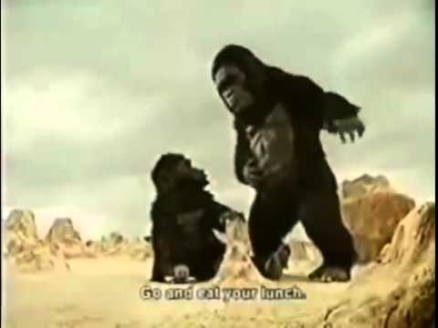 Iklan Lawak Thailand, Mak Gorilla Tension Dengan Perangai Anak Gorilla