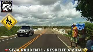 Passando por Santa Luz-BA, pedestres na via👉 dobre a atenção