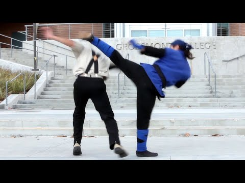 Karate Vs Drunken Kung Fu Fight Scene (tekken   King Of Fighters Style) video