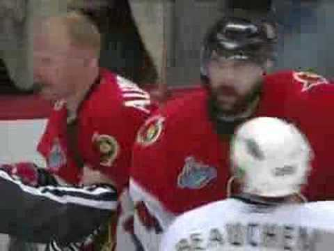Daniel Alfredsson shoots the puck on Niedermayer Video
