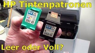 HP Tintenpatronen - leer oder voll - Düsen prüfen und reinigen