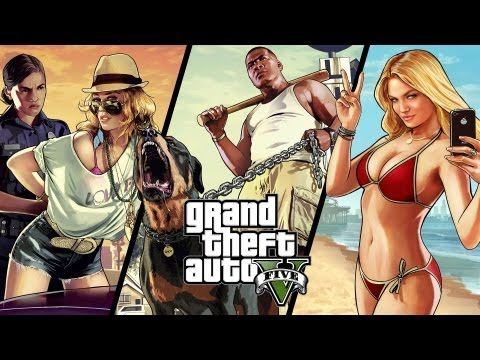 Ray's Reaction - Grand Theft Auto 5 - Official Trailer #2 (PS3/X360/PC) [HD]