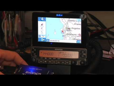 Avmap G6APRS and Byonics Tiny Trak 4 Demo